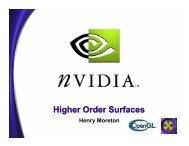 Higher Order Surfaces - NVIDIA Developer Zone