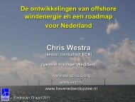 De ontwikkelingen van offshore windenergie en een ... - cigre