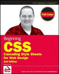Beginning CSS: Cascading Style Sheets for Web Design, 2nd ...
