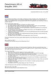 Fleischmann Enquete Nieuws 2007-05 - Fleischmann-HO