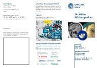 MS-Symposium - Zentrum für Neurologie und Psychiatrie - Uniklinik ...