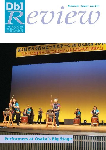 Performers at Osaka's Big Stage - Deafblind International