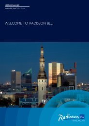 Radisson Blu Hotel, Tallinn Sales Kit