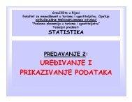 Vrste statističkih nizova - LUMENS - Fakultet za menadžment u ...