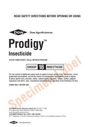 Prodigy Insecticide label - Pest Genie