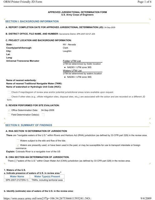 Page 1 of 6 ORM Printer Friendly JD Form 9/4/2009 https ...