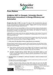 Initi@tive 2007 in China - Schneider Electric