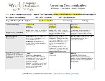 hcmc isec curriculum planning template curriculum title