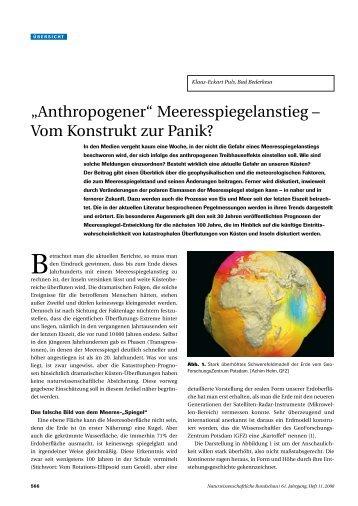 """""""Anthropogener"""" Meeresspiegelanstieg – Vom Konstrukt zur Panik?"""