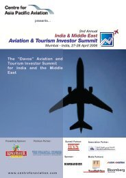 "The ""Davos"" Aviation and Tourism Investor Summit for India ... - CAPA"