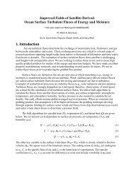 Bourassa - NEWS (The NASA Energy and Water cycle Study)