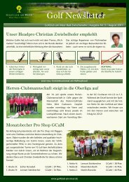 Golf Newsletter - Golfclub am Meer
