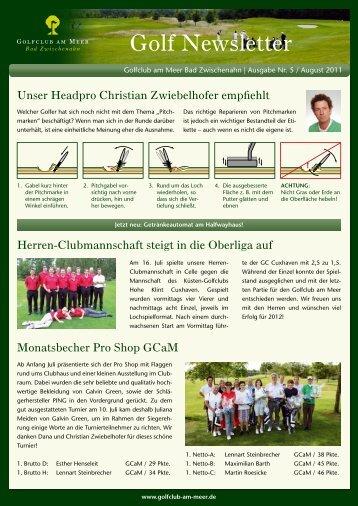 Golf Newsletter - Golfclub am Meer
