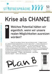Krise als CHANCE - Stadtgespräche Rostock