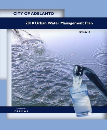 Adelanto 2010 Urban Water Management Plan - Department of ...