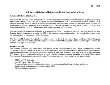 2 Position Statement - Halton and St Helens PCT