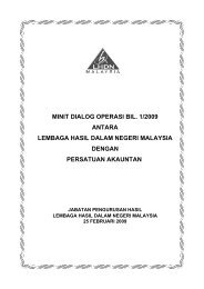 minit dialog operasi bil. 1/2009 antara lembaga hasil dalam negeri ...