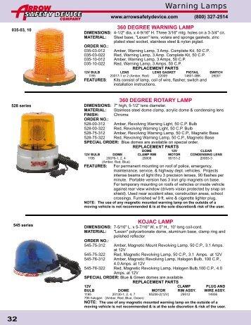 Arrow Safety Device 2009 Catalog - part4 - Zip's Truck Equipment