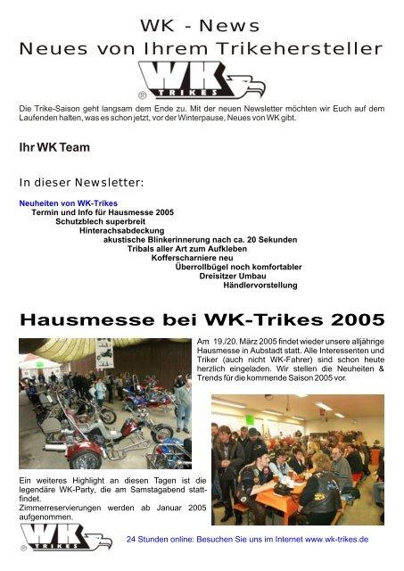 Newsletter Nummer 3 Wk Trikes