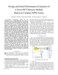 Design and Initial Performance Evaluation of a Novel PET Detector ...
