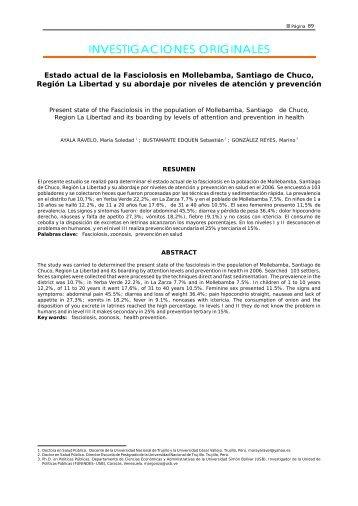 INVESTIGACIONES ORIGINALES - Revista Peruana