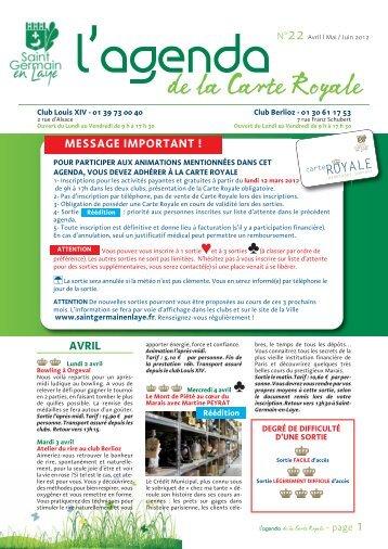 L'Agenda de la Carte Royale n°22 - Saint Germain-en-Laye