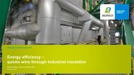 Energy efficiency – quicks wins through industrial insulation - Bilfinger