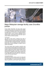 Major Malaysian sewage facility uses Grundfos pumps