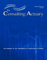 Volume XXV, Number 2 - June 2013 - Conference of Consulting ...