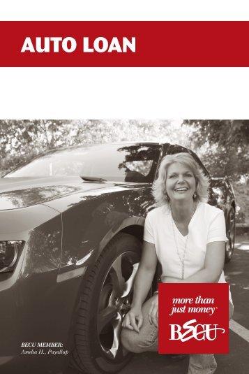 Auto Loan Brochure - BECU