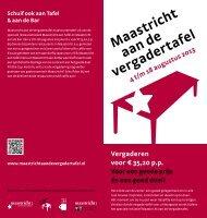 Maastricht aan de vergadertafel