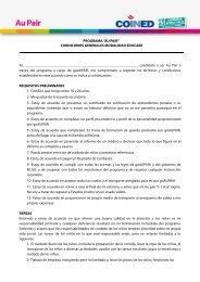 """PROGRAMA """"AU PAIR"""" CONDICIONES GENERALES MODALIDAD ..."""