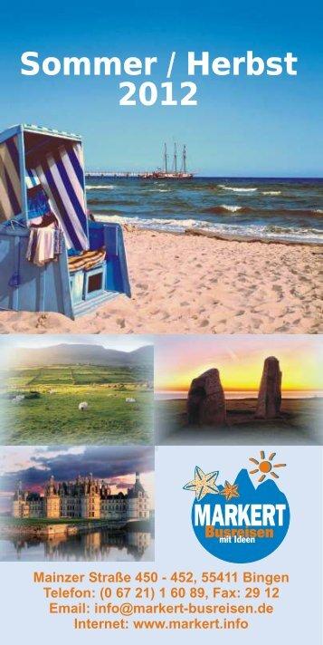 Sommer / Herbst 2012 Sommer / Herbst 2012 - NEU