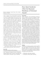 Does Alport Syndrome Affect the Basement Membrane of Peritoneal ...