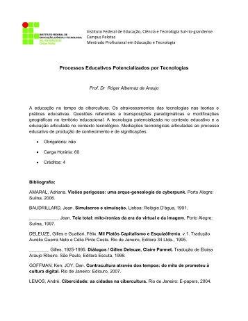 Processos Educativos Potencializados por Tecnologias