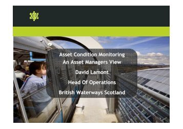 Asset Condition Monitoring An Asset Managers View David Lamont ...