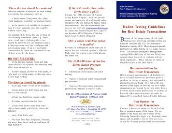Radon Test Guidelines Pamphlet