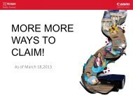 MORE MORE WAYS TO CLAIM! - Canon Marketing (Philippines)