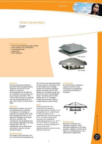 Axiaal dakventilator DAP - J.E. StorkAir