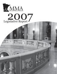 Legislative Report 2007 - Minnesota Medical Association