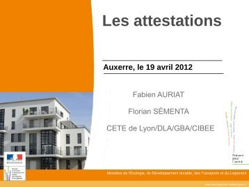 Les attestations