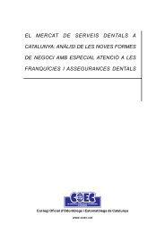El mercat de serveis dentals a Catalunya