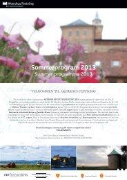 Sommerprogram Akershus festning A4 2013.pdf - Forsvarsbygg