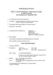 Ostfriesland goes Western EWU C–Turnier mit Bremen ...