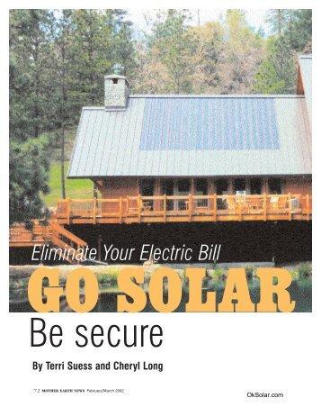 go solar - Technology