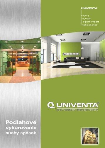 Podlahové vykurovanie - suchý proces Fermacell - Univenta