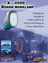 X-4500 Xenon worklamp - US Reflector
