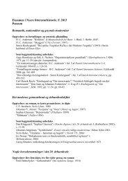 Eksamen i Nyere litteraturhistorie. F. 2013 Pensum ... - For Studerende
