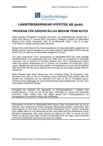 MTN 31 maj 2012 - Länsförsäkringar