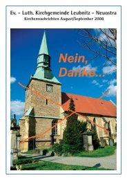 Kirchennachrichten August/September 2008 - Ev. - Luth ...